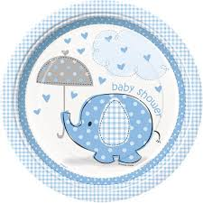 baby plates 9 blue elephant baby shower plates 8ct walmart
