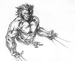 wolverine lunch sketch by spiderguile on deviantart