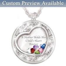mothers day birthstone necklace necklace a holds childs heart personalized birthstone