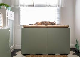 how to conceal a kitty litter box inside a cabinet how tos diy
