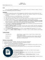 Software Testing Resume Experienced Testing Resume Template Php Web Application