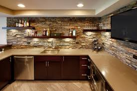 amazing basement wall ideas stone photos of the wet bar designs