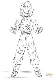 goku super saiyan coloring free printable coloring pages