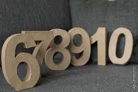 numero table mariage décoration mariage numéro de table en ad déco