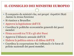 consiglio dei ministri europeo unione europea ii a poliziano