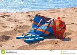 flip flop bag bag and flip flops on the stock image image of