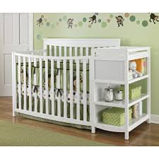 Storkcraft Princess 4 In 1 Fixed Side Convertible Crib White by Storkcraft Tuscany Crib Changer Combo Creative Ideas Of Baby Cribs
