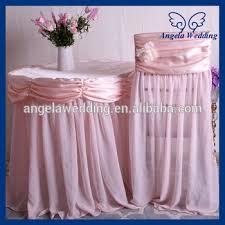 Cheap Wedding Chair Covers Ch046a Cheap Wedding Chiffon Flower Decorated Universal Ruffled