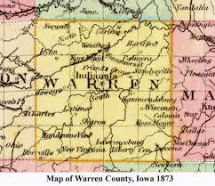 map of iowa towns towns in warren county iowa