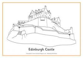 irish castle coloring page scotland colouring pages for kids