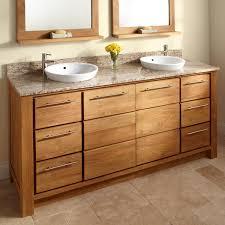double sink bathroom vanity wood and porcelain for bathroom