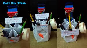 easy make pen stand kids craft making tutorial f2book