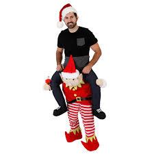 Piggyback Halloween Costume Christmas Piggyback Ride Elf Costume Ugly Christmas Sweaters