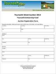 Golf Tournament Sign Up Sheet Template Charity Auction Forms Images 108 Silent Auction Bid Sheet Templates