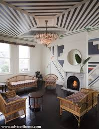 art deco living room decoration ideas with rattan art deco