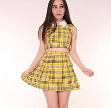90s dress dress 90s style clueless vintage yeow yellow collar set