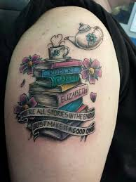 19 book tattoos images and pictures