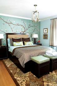 foxy blue and beige bedroom brown decorating ideas dark walls abd