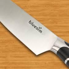 amazon com chef u0027s knife bluesim 7 5 inch professional kitchen