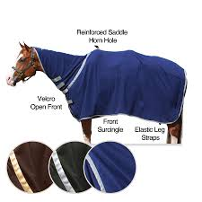 Horn And Hoof Flag Dura Tech Western Performance Contour Fleece Cooler In Square
