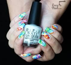 rainbow watercolour nail art lucy u0027s stash