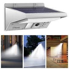 solar powered outdoor motion lights solar lights outdoor motion sensor ithird 21 led 330lm solar