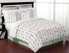 Teen Bedding And Bedding Sets by Mint Gray Coral White Queen Full Rustic Woodland Arrow Bed In A