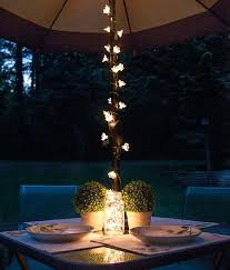 Patio Lights Walmart Outdoor Patio Lights Backyard Patio Dining Umbrella Lights And