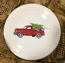 fiesta u0027belk christmas truck u0027 luncheon plate features a red farm