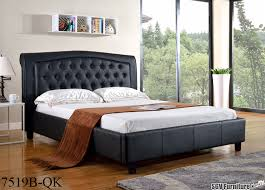 King Size Leather Headboard Ca King Size Bed Frame W Tufted Leather Headboard Footboard