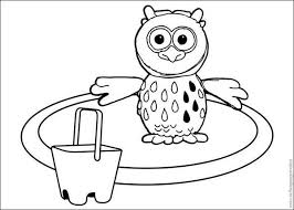 otus owlet stand circle timmy coloring