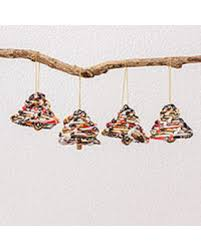 amazing deal on recycled paper ornaments friendly trees set of