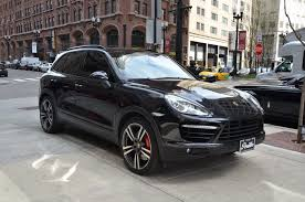 porsche cayenne 2014 black 2014 porsche cayenne turbo stock b886a for sale near chicago il