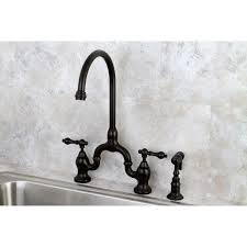 Bridge Kitchen Faucets Vintage High Spout Oil Rubbed Bronze Bridge Kitchen Faucet With