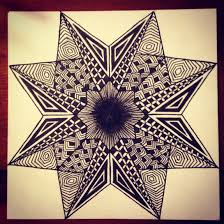 geo star design zentangle my doodles u0026 drawings pinterest