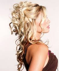 prom hairstyles for medium hair half up half down beautiful long