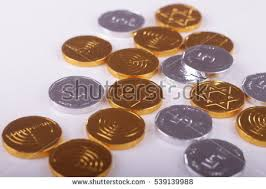 hanukkah chocolate coins image hanukkah chocolate coins stock photo