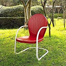 Metal Patio Furniture by Amazon Com Crosley Furniture Griffith Metal Outdoor Chair Red