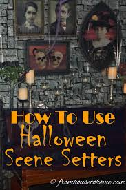 halloween backdrops scene setters easy diy halloween party decorations