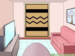 3 ways to hang a rug on a wall wikihow