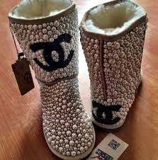 ugg sale cc shoes uggs chanel chanel boots pearl uggs pearls ugg boots fashion