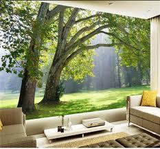 popular 3d landscape wallpaper buy cheap 3d landscape wallpaper custom size 3d tree forest wall mural photo wallpaper for wall 3d room landscape wallpaper for