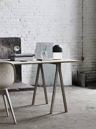 sleek industrial home office decor with led volume table lamp