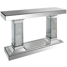 Mirrored Glass Bedroom Furniture Bedroom Furniture Mirrored End Table White Console Table Slim