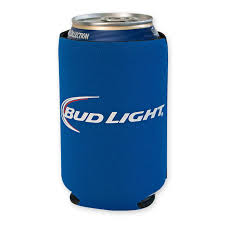 bud light beer can light blue can cooler