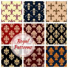 what is floral pattern in french fleur de lys french royal seamless pattern set french floral