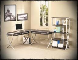 Home Office With Two Desks Modern Person Corner Desk Intended For Home Office Furniture
