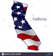 Waving American Flag California Full Of American Flag Waving In The Wind The Outline