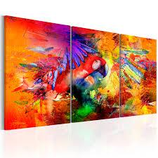 Modern Art Wohnzimmer Wandbilder Xxl Wohnzimmer Leinwand Bilder Abstrakt Papagei Bunt