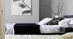 deco noir et blanc chambre déco chambre noir et blanc et gris idées chic deco cool